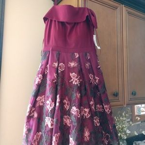 Red floral homecoming dress